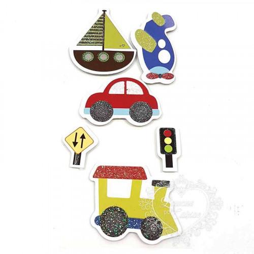Adesivo FM com Glitter Transporte