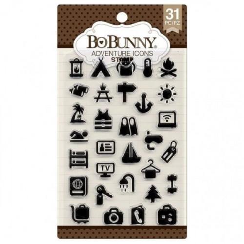 Carimbo de Silicone Ícones de Viagem - Adventure Icons Stamp Bo Bunny