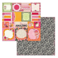 Papel  Scrap Df Sweet Clementine Cards..