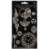 Die cuts Chipboard Mechanical Dreams Pri..