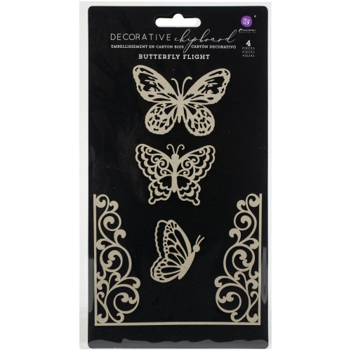 Die cuts Chipboard Butterfly Flight  Prima