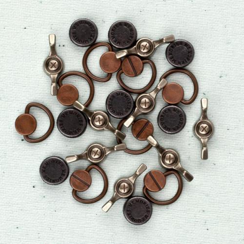 Mechanicals - Vintage trinkets Screws - 18 pçs - Prima Markeing