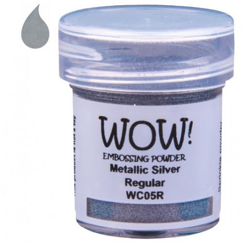 Pó Emboss - WOW! - Metallic Silver - prata