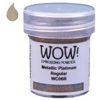 Pó Emboss - WOW! - Metallic Platinum Reg..