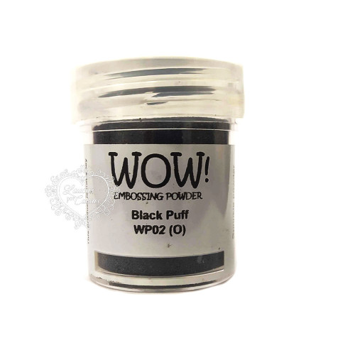 Pó Emboss - WOW! - Black Puff
