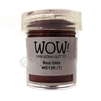 Pó Emboss Glitter - WOW! - Red Glitz..