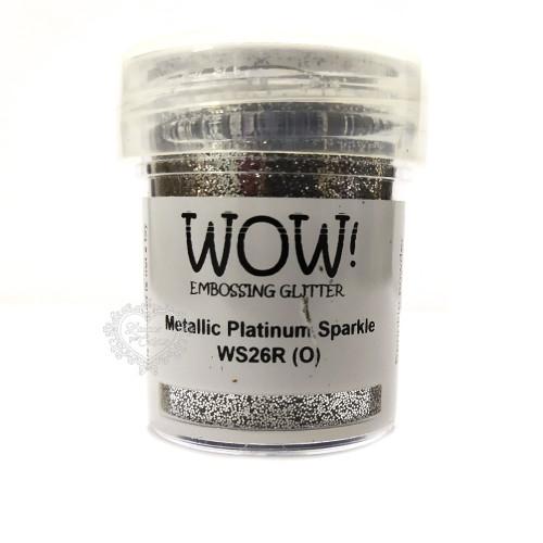 Pó Emboss Glitter - WOW! - Metallic Platinum Sparkle