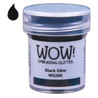 Pó Emboss Glitter - WOW! - Black Glint..