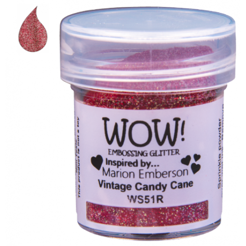Pó Emboss com Glitter - WOW! - Vintage Candy Cane