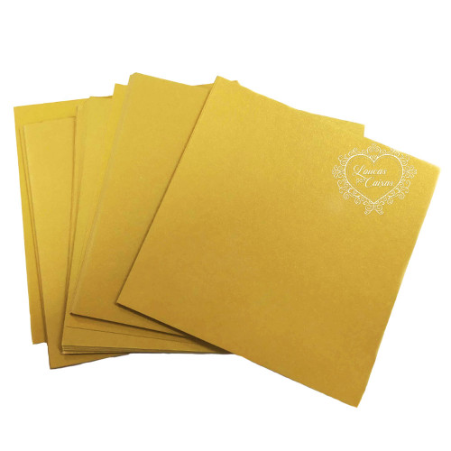 Papel Liso Amarelo Ouro - 13x13 cm