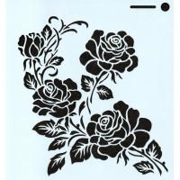 Stencil Rosas - 15x15..