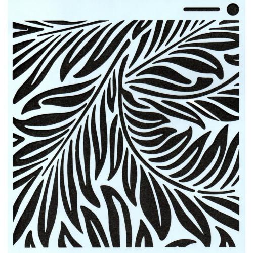 Stencil Folhagem - 15x15