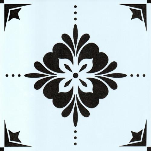 Stencil Estampa Floral 1 - 15x15