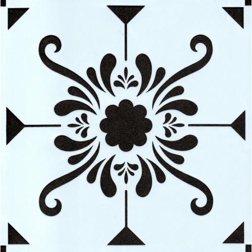 Stencil Estampa Floral 4 - 15x15