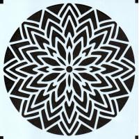 Stencil Estampa Floral 5 - 15x15..