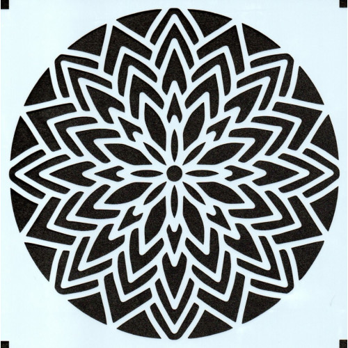 Stencil Estampa Floral 5 - 15x15