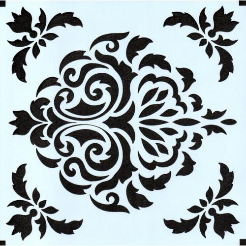 Stencil Estampa Arabesco 1 - 15x15
