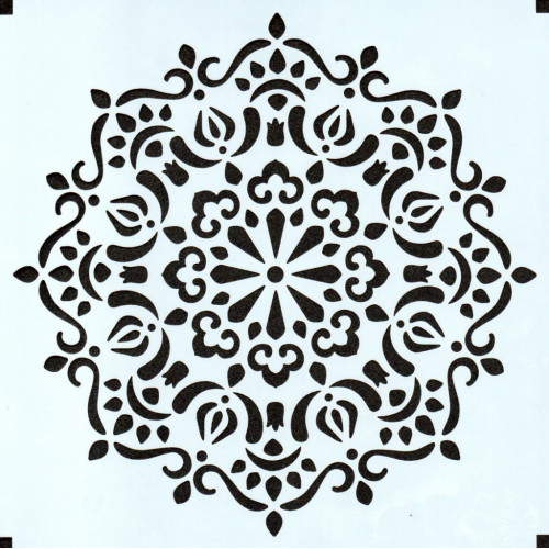 Stencil Estampa Arabesco 6 - 15x15